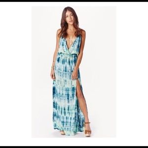 PLANET BLUE- HIGH TIDE- BOHEMIAN MAXI DRESS